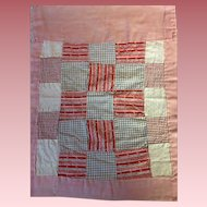 Old Patchwork Blanket For Baby Dolls