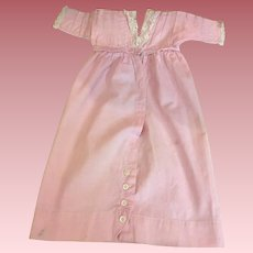 Antique Pink Dress for Bisque Dolls 1900