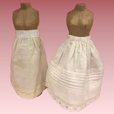 Two Antique Slips for Bisque Late 1800s