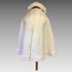 Antique Toddler Cape and Hat 1908