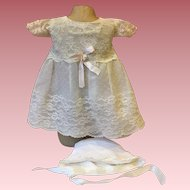 White Lace Party Dress For Big Babies 1950s