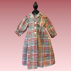 Madras Dress for Large Dolls 1940