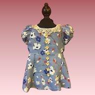 Floral Doll Dress for Large Composition Dolls 1930s
