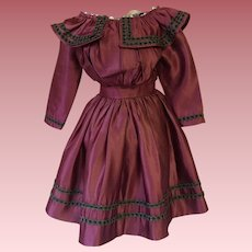 Satin Dress for French or German Bisque Dolls