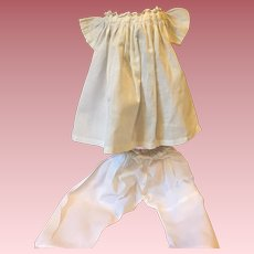 Gown and Pantaloons for Bisque Baby 1920