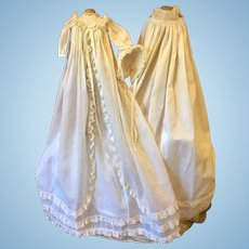 Complete Christening Gown for Bisque Dolls