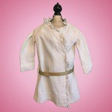 Antique Ribbed Dress for Large Bisque Dolls