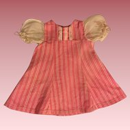 Pink and White Rigged Dress and Chemise for Composition Dolls 1930s