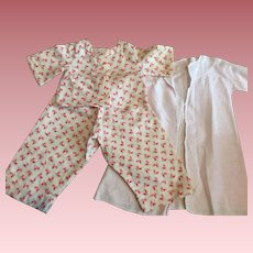 Pajamas and Robe for Dy-Dee Baby and Friends 1950s