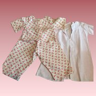 Soft Pajamas and Robe for Dy-Dee Baby and Friends 1950s