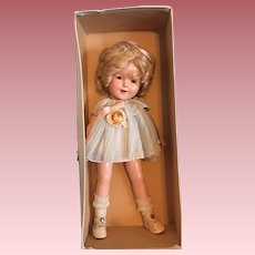 """Mint in Box 13"""" Ideal Shirley Temple Doll 1930's"""