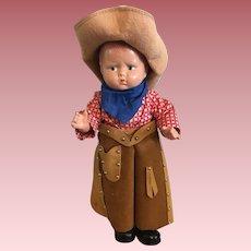 Super Rare HTF Effanbee Grumpy Texas Centennial Doll 1936
