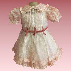 Original Effanbee Organdy American Child Dress 1930s