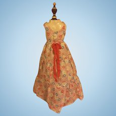 Floor Length Voile Gown for Composition Dolls 1930s