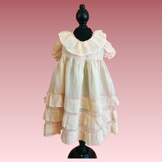 Organdy Dress and Slip for Large Composition Dolls 1930s