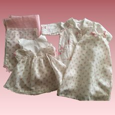 Rosebud Batiste Clothing Set For Dy-Dee Baby and Friends 1950s