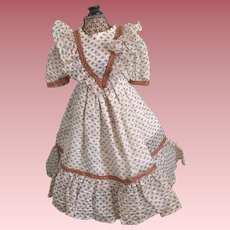 Plisse Dress For Parian and China Head Dolls