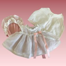 Organdy Baby Doll Dress, Bonnet and Slip for Dy-Dee and Friends 1950