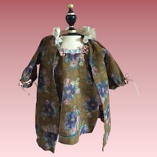 Two Piece Voile Dress and Over-Jacket for Bisque or Composition Dolls