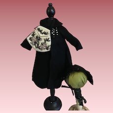 Coat, Hat, Purse for Fashion Dolls 1950s