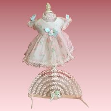 Party Dress and Hat for American Character Tiny Tears and Friends 1950