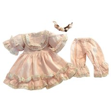 Three Piece Outfit for Bisque Dolls