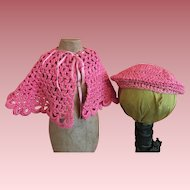 Crocheted Doll Cape and Tam