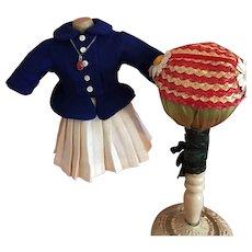 Jacket, Skirt, Hat For Hard Plastic Dolls 1950s