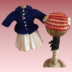 Jacket, Skirt, Hat For Hard Plastic Dolls 1950s