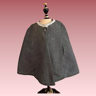 Tweed Doll Cape 1920