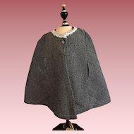 Tweed Doll Cape 1920