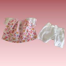 Pink Folkprint Doll Dress 1930s