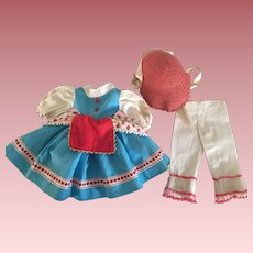 Ideal Shirley Temple Doll Little Bo Peep Dress 1961