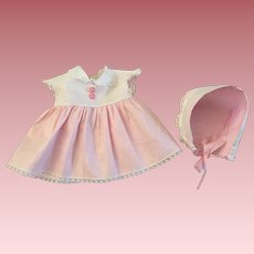 American Character Tiny Tears Dress and Bonnet 1950s
