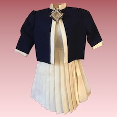 Two Piece Gabardine Doll Outfit 1950s