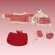 Five Piece Sweater Outfit for Small Bisque