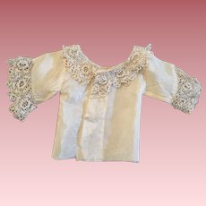 Antique Doll Blouse for German or French Bisque 1900