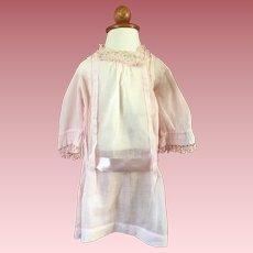 Pink Batiste Dropped Waist Dress for Large Dolls