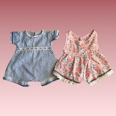 Two Baby Doll Rompers 1940s