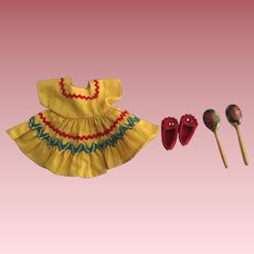 Cute Vintage Dress, Red Moccasins, and Hand Painted Maracas For Bimmy and Friends