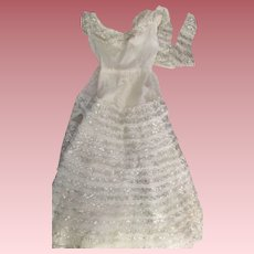 Betty the Beautiful Bride Gown, bloomers, and Elbow Gloves 1950s