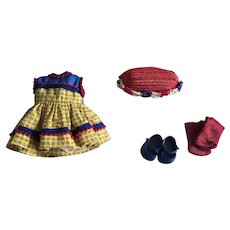 Darling Muffie Dress, Straw Hat, Shoes and Socks 1950s