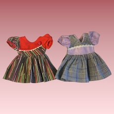 Two Factory Doll Dresses 1950s