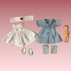 Cosmopolitan Ginger Nurse Outfit with celluloid Ideal Baby Complete