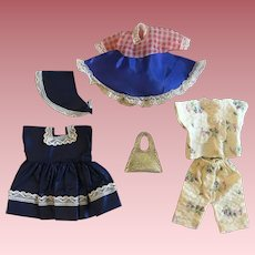 Three Outfits for Eight Inch Babies such as Vogue Ginny, Muffie, and Friends 1950s