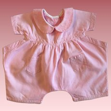 Pink and white romper for Baby Dolls 1940