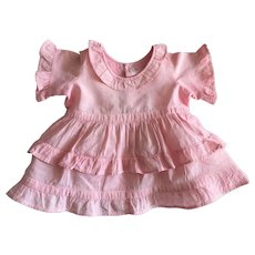Pink Dress For Composition Dolls 1930s