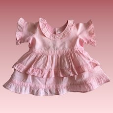 Pink Dress For Composition Dolls 1930s