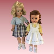 Two Outfits for Hard Plastic Dolls 1950s
