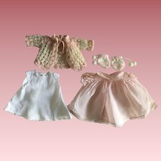 Pink Organdy Dress, Slip, and Booties for Dy-Dee Baby and Friends 1950s